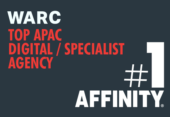AFFINITY #1 digital agency in APAC