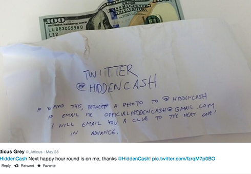 Would you love to find @hiddencash?
